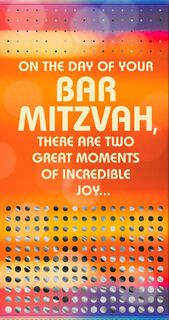 Great Moments Bar Mitzvah Congratulations Money Holder Card,