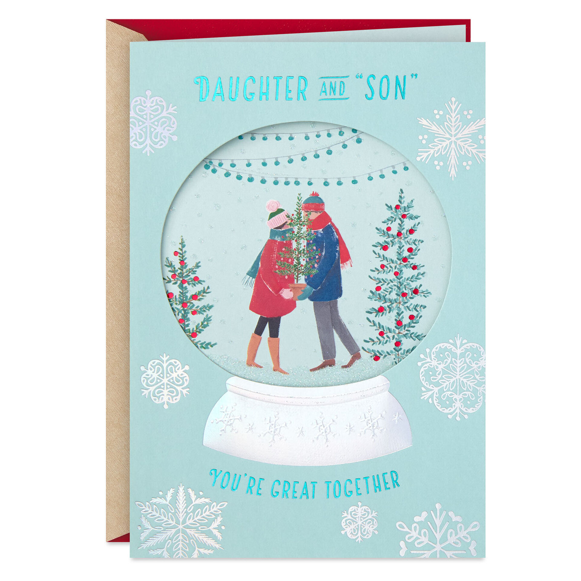 You Re Great Together Christmas Card For Daughter And Son In Law Greeting Cards Hallmark