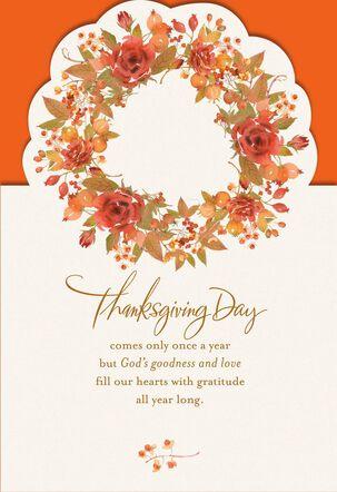 Gratitude Religious Thanksgiving Card
