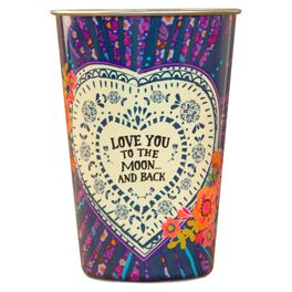 Natural Life Stainless-Steel Cup Love You to Moon, 17 oz., , large