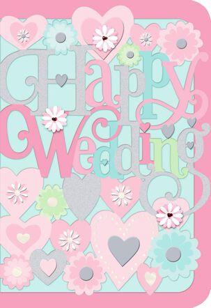 Happy Wedding, Happy Life Wedding Card