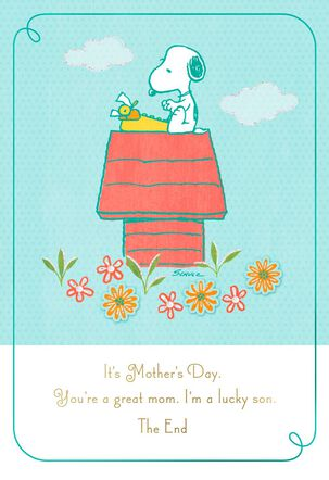 Peanuts® Mother's Day Card From Son