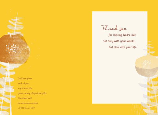 Sharing God's Love Clergy Appreciation Card,