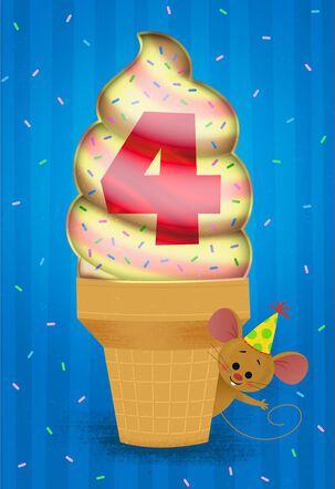 Lucky You 4th Birthday Card