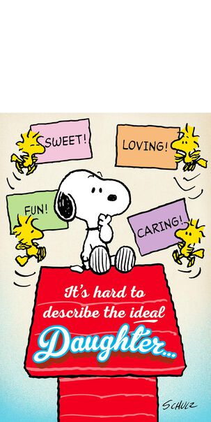 Peanuts® Snoopy and Woodstock Mother's Day Card for Daughter