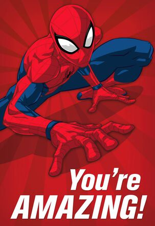 Spider-Man You're Amazing Birthday Card