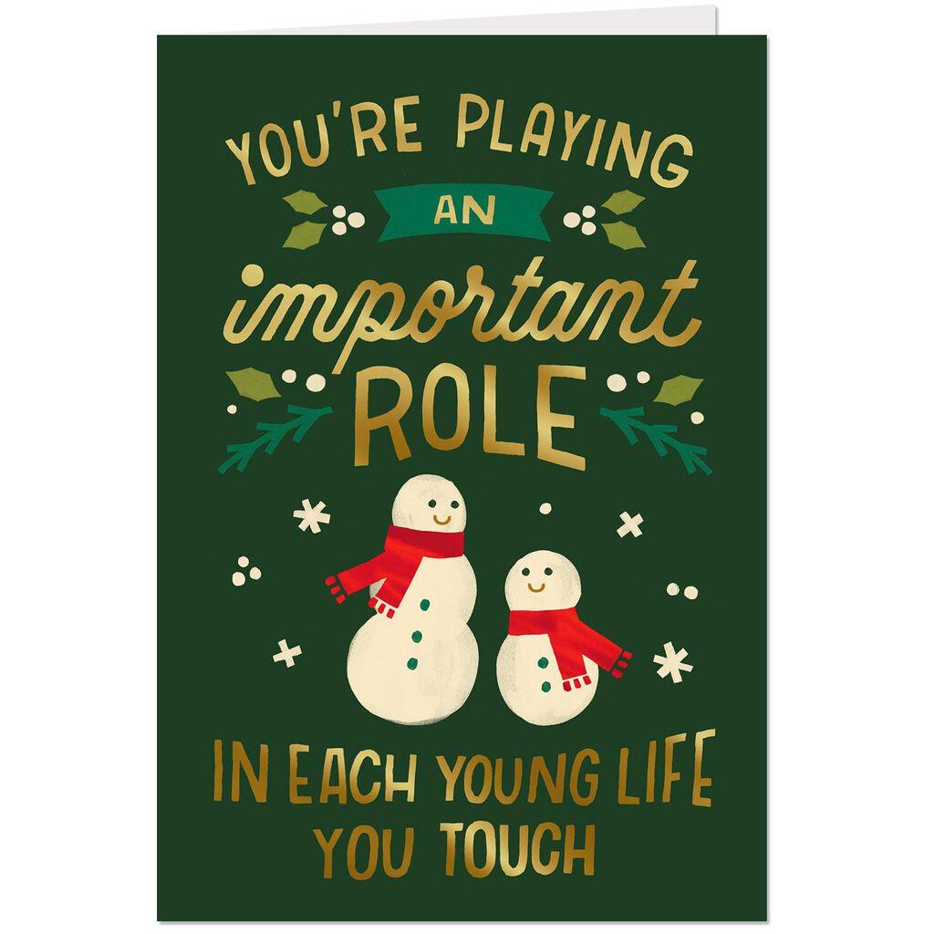Snowman Appreciation Christmas Card Greeting Cards Hallmark