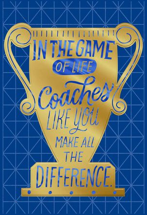 Win or Lose Thank You Card for Coach