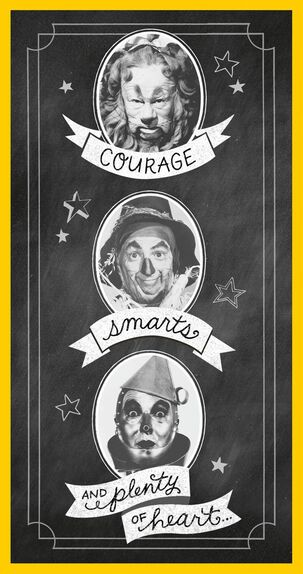 The Wizard Of Oz™ Courage, Smarts And Heart Graduation Money Holder Card