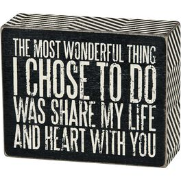 Primitives by Kathy Share My Life Box Sign, , large