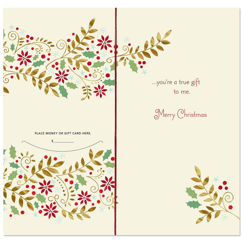 Patterned Wreath Money Holder Christmas Card - Greeting Cards - Hallmark