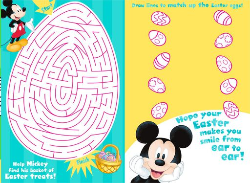 Mickey Mouse Kids Activities Easter Card,