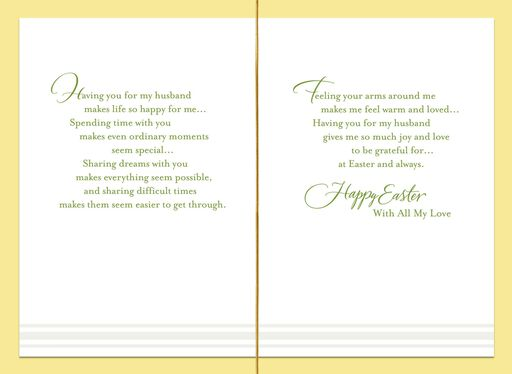 With Joy and Love Easter Card for Husband,