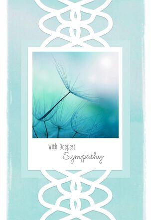 Wispy Flowers Sympathy Card