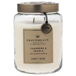 Crafters & Co. Cashmere & Pearls Candle, 22-oz, , large