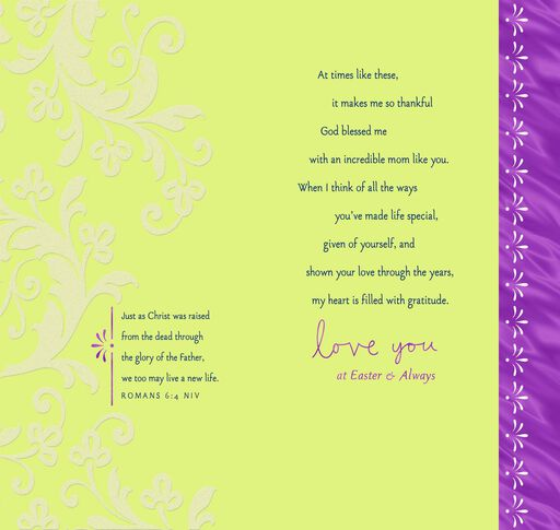 Love You Always Religious Easter Card for Mom,