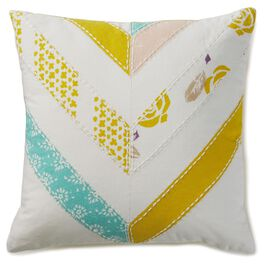 "Chevron Decorative Pillow, 16"" Square, , large"