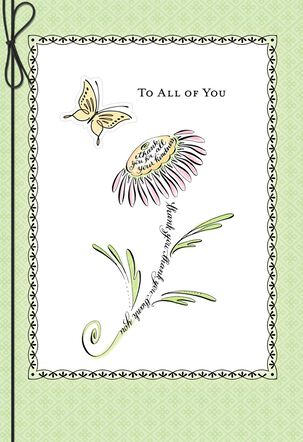 Coneflower and Butterfly Thank You Card for a Group