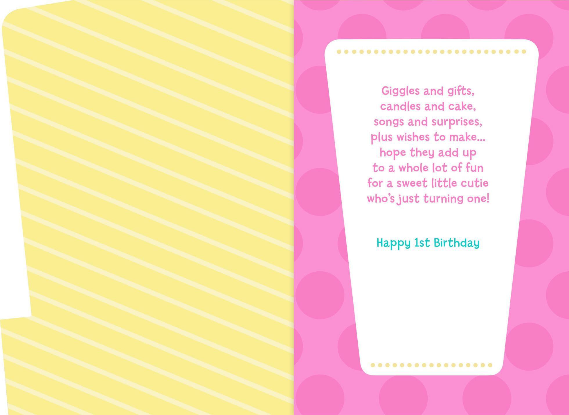Minnie Mouse Musical 1st Birthday Card Greeting Cards Hallmark