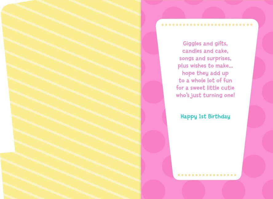 Minnie Mouse Musical 1st Birthday Card