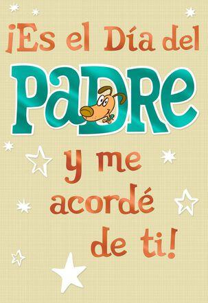 Star Dog Spanish Father's Day Card