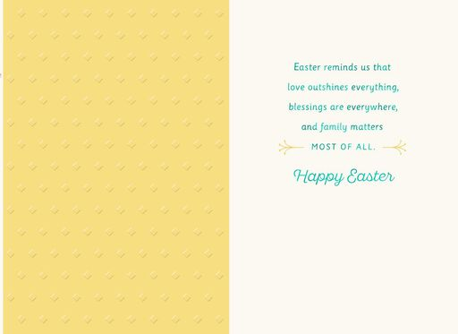 Birds in Flower Bouquet Easter Card for a Special Couple,