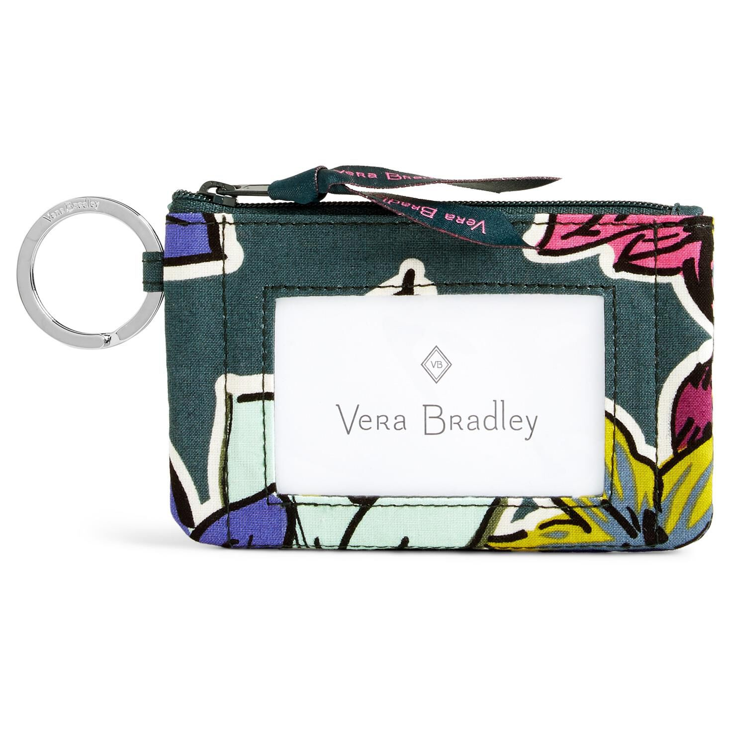 Vera Bradley Zip ID Case in Falling Flowers - Handbags & Purses ...