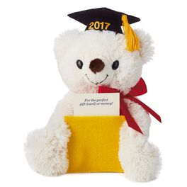 Graduation Bear Stuffed Animal Gift Card Holder, , large