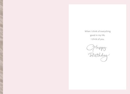 Pink Flower Birthday Card for Mom Greeting Cards Hallmark – Good Birthday Cards for Mom