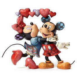 Jim Shore Love Is in the Air Mickey and Minnie with Hearts Figurine, , large