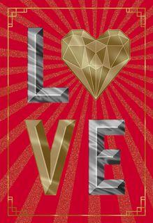 Love Paper Craft Romantic Valentine's Day Card,