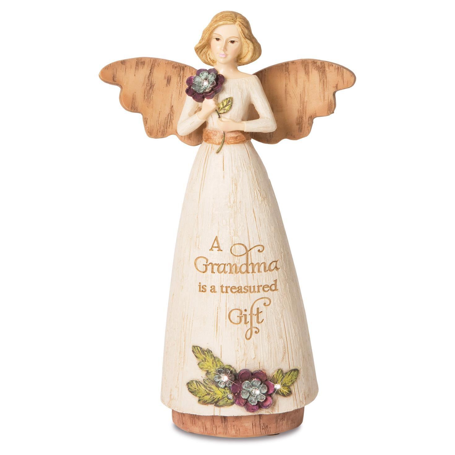 a grandma is a treasured gift angel figurine figurines hallmark