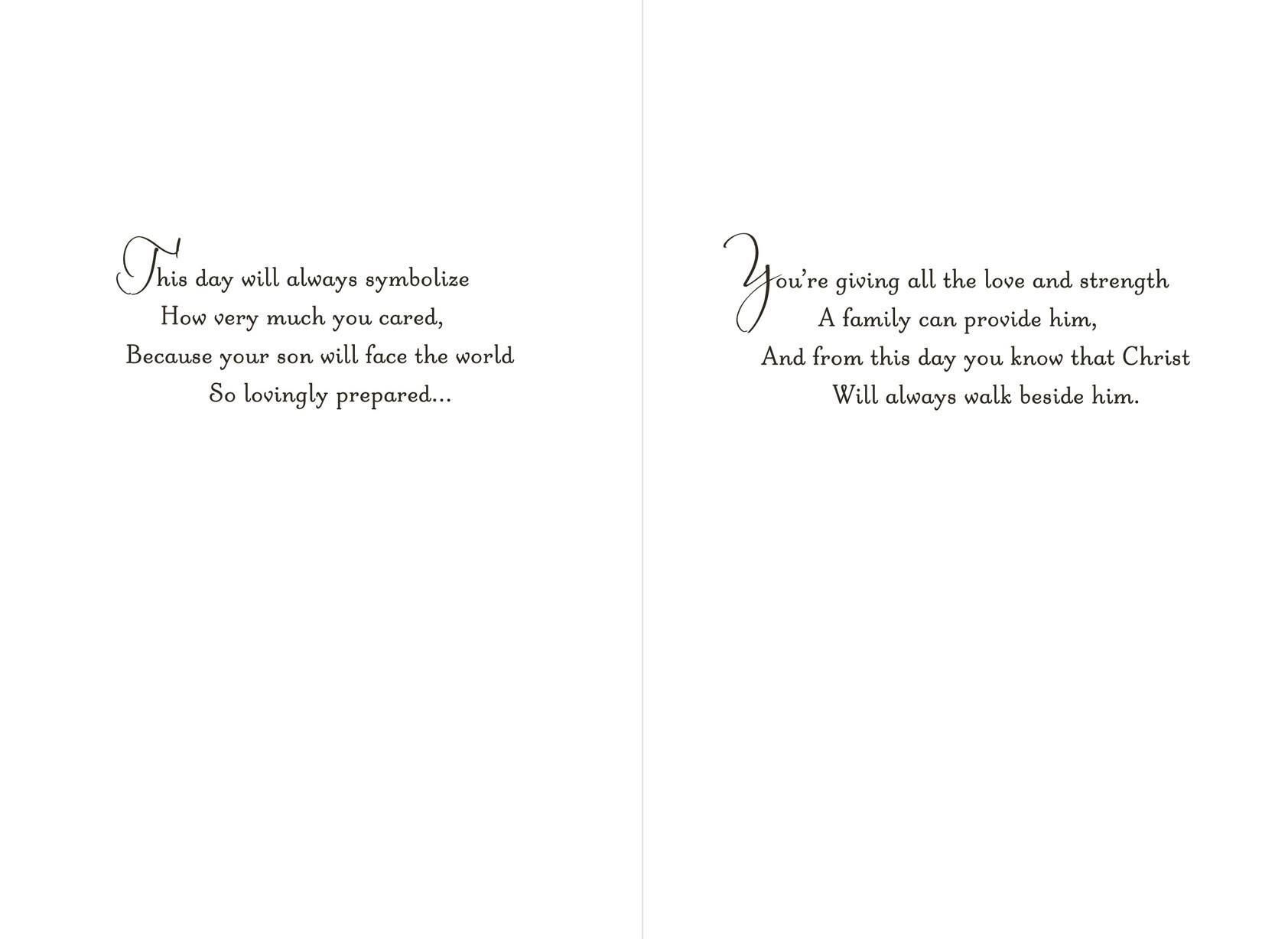 Floral Wreath Godson Baptism Card for Parents - Greeting Cards ...