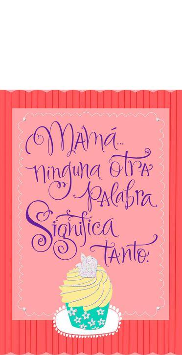 Cupcakes Spanish Language Pop Up Mom Birthday Card Greeting Cards