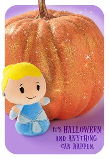 itty bittys® Cinderella and Magic Pumpkin Halloween Card,