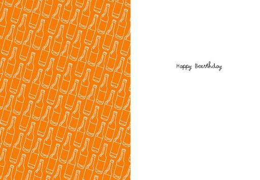 Happy Beerthday Birthday Card,