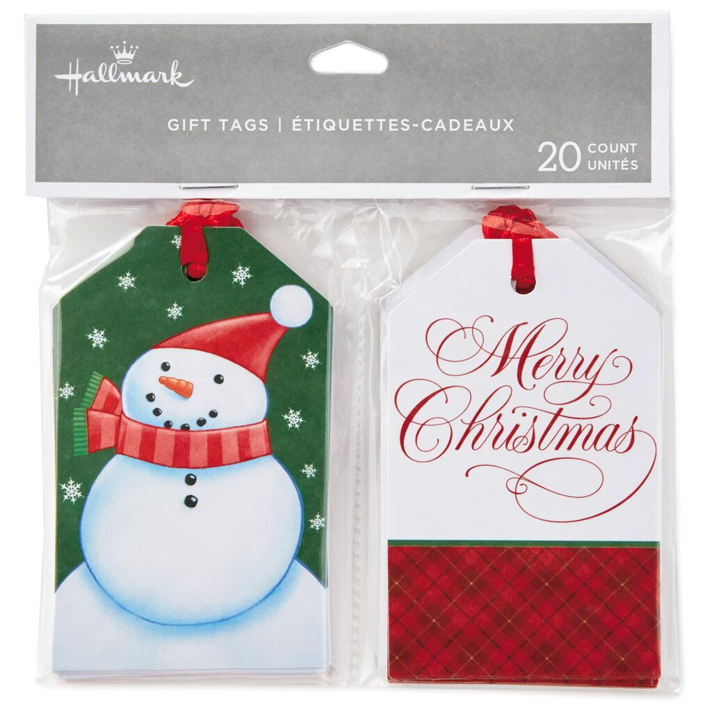 merry christmas gift tags with ribbons pack of 20 seals and gift