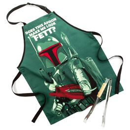 Star Wars™ Boba Fett™ Apron and Tong Set, , large