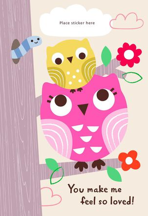 Two Owls Customizable Mother's Day Card for Grandma