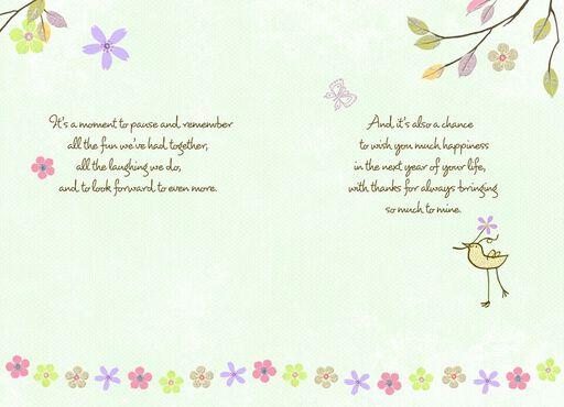 Thankful Friend Birthday Wishes Card,