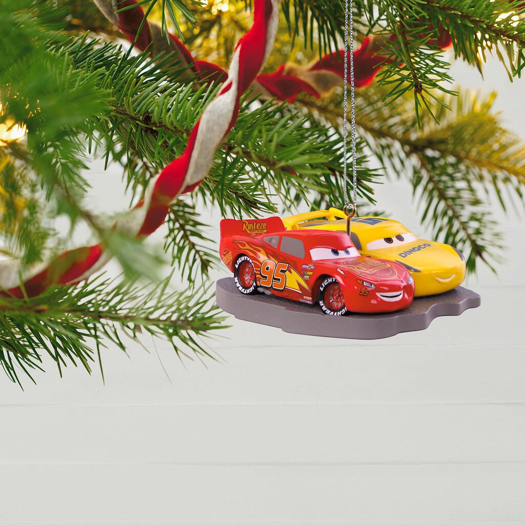 Disney Cars Christmas Decorations.Disney Pixar Cars 3 Lightning Mcqueen And Cruz Ramirez Ornament