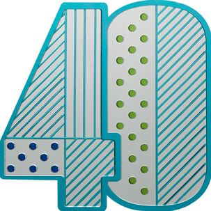 40 Looks Good Birthday Card