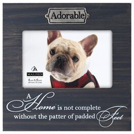 Malden Adorable Pet Weathered Wood Photo Frame, 4x6, , large