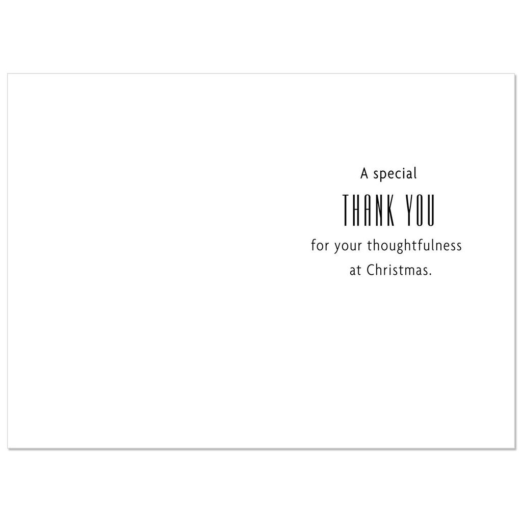 Thoughtfulness At Christmas Thank You Cards Pack Of 6 Boxed Cards