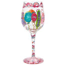 Lolita® It's My Birthday Handpainted Wine Glass, 15 oz., , large