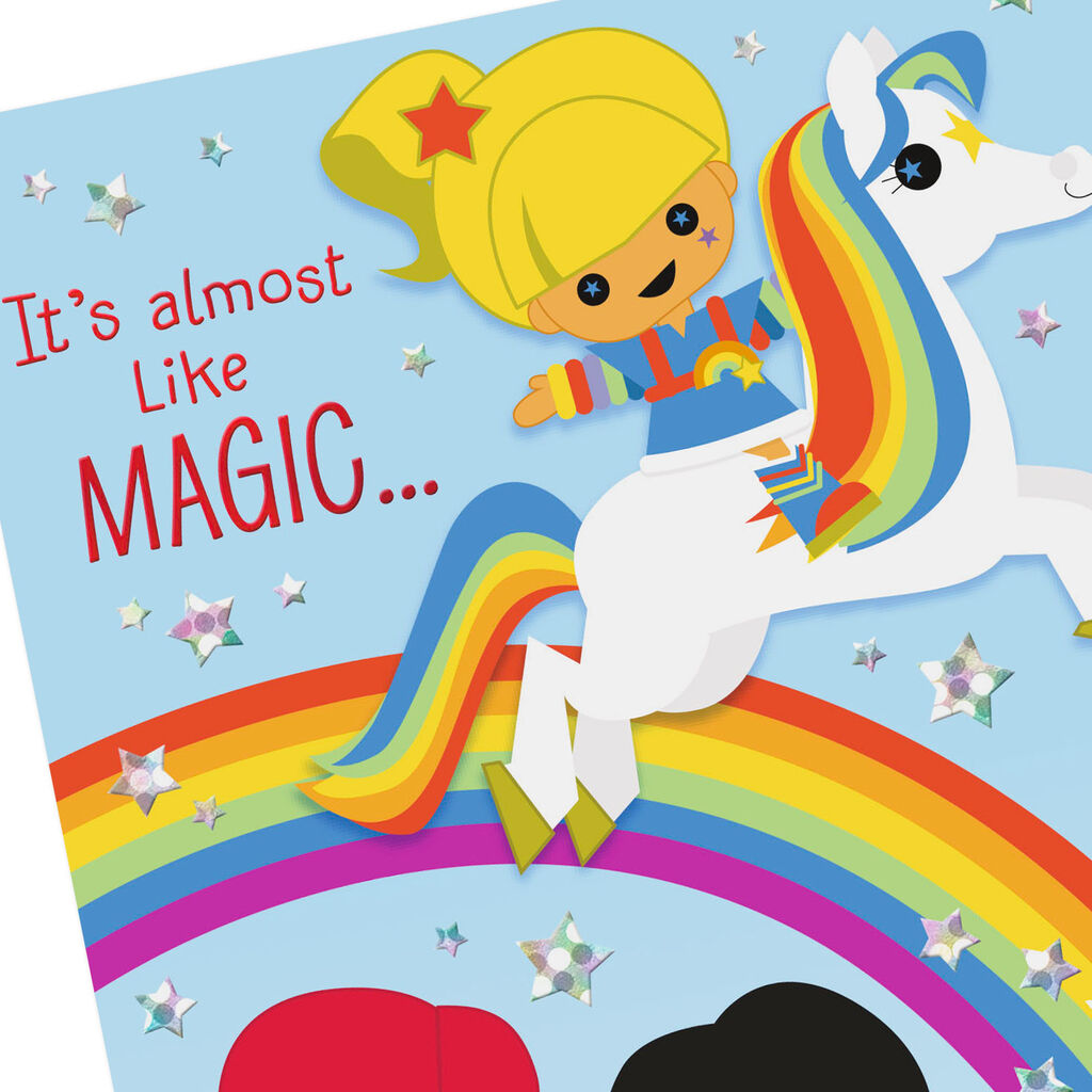 Rainbow Brite and Friends Stylized Coloring Card With Stickers