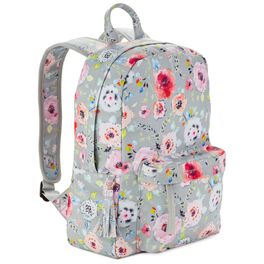 Haute Girls™ Floral on Gray Backpack, , large