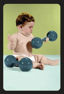 Mighty Baby Biceps Encouragement Card,