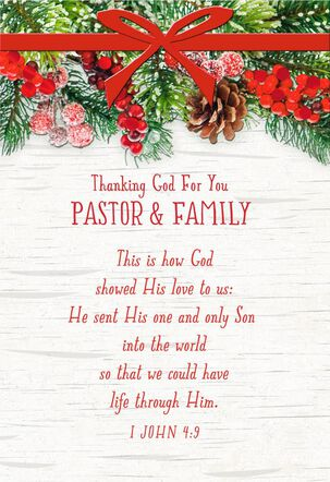 Be Refreshed in God's Love Christmas Card