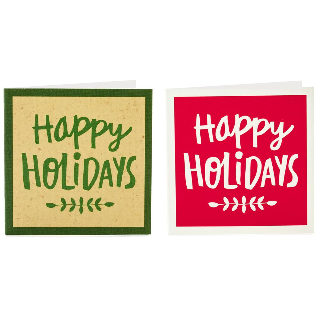 happy holidays folded gift tags pack of 20 seals and gift tags